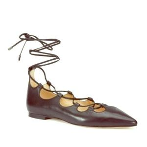 Coach - Justine Lace Up Flats